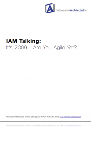 IAM Talking - It's 2009, Are You Agile Yet?