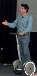 Dean Kamen Speaking While on a Segway