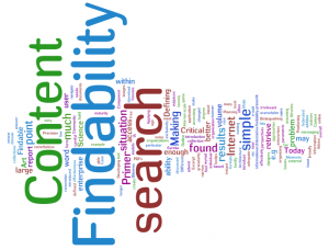 Word cloud for findability