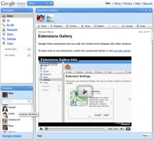 Dan Keldsen - Google Wave - Screenshot