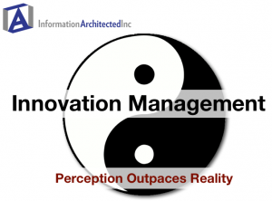 Innovation Management: Perception Outpaces Reality (webinar title slide)